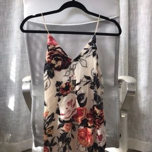 Toby Heart Ginger Velvet & Mesh Floral Dress
